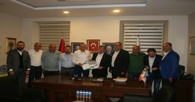 Sanayi Esnafı Yeni Sanayi Sitesi Projeleriyle İlgili Ak Parti İl Başkanı Revi İle Görüştü
