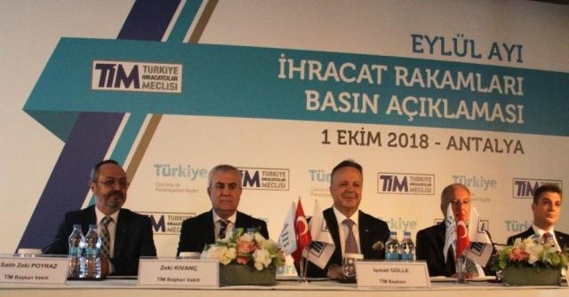 Türkiyenin Eylül Ayı İhracatı 14,5 Milyar Dolar
