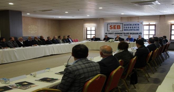 AK Parti'den Amasya'da 'Ekonomik Beklentiler' forumu