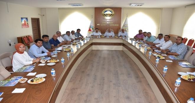 Aksaray İl Genel Meclis Üyeleri Ticaret Borsasıyla İstişare Yaptı