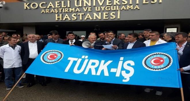 Türk-İş Kocaeli Üniversitesinde Çalışan Üyeleri İçin Bir Araya Geldi