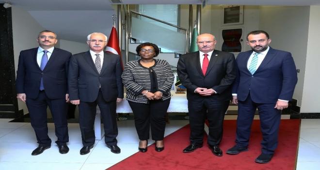 Ato Başkanı Barandan Tanzanya Büyükelçisi Kiondoya Ziyaret