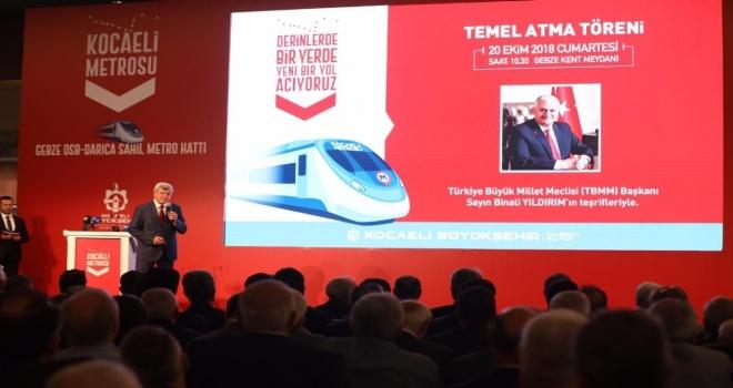 Gebze-Darıca Metrosunun Temeli 20 Ekimde Atılıyor