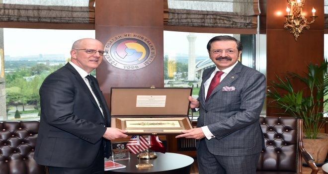 ABD Dışişleri Bakan Yardımcısı David Meale'den TOBB'a ziyaret