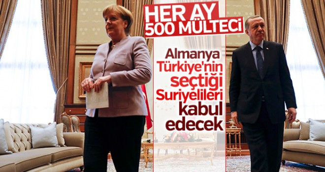 Almanya Türkiye'den her ay 500 mülteci alacak