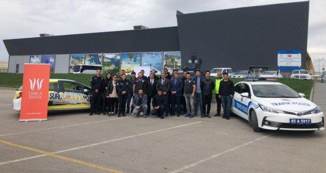 Van İl Emniyet Müdürlüğü personeline İleri Sürüş Teknikleri Eğitimi